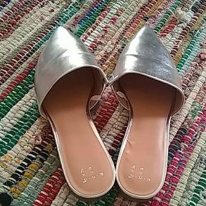Chic Silver Slip-ons
